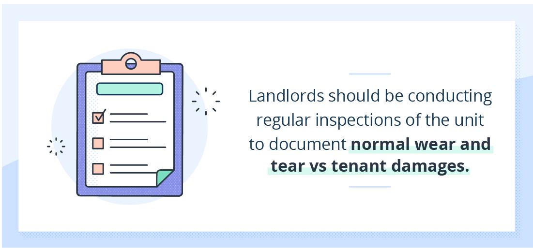 illustration of clipboard describing landlord inspections