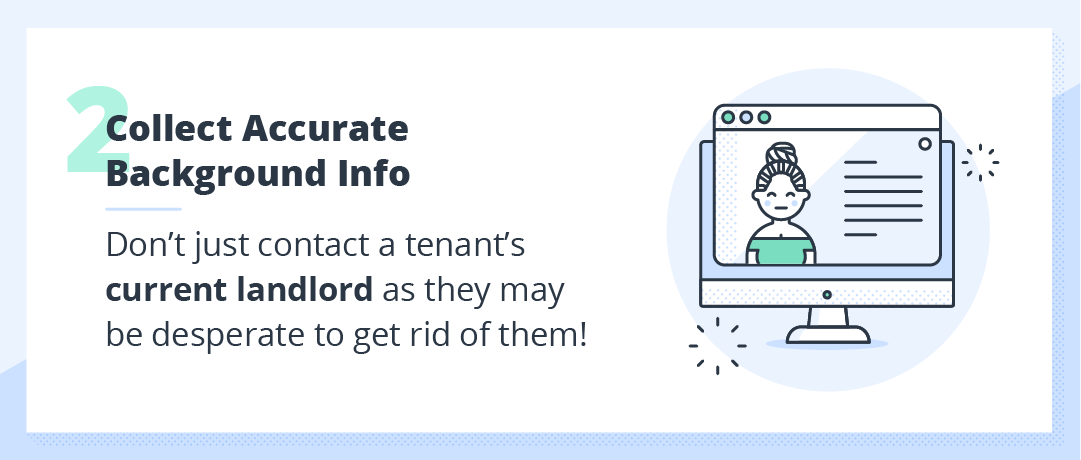 collecting accurate background information tips for a rental application