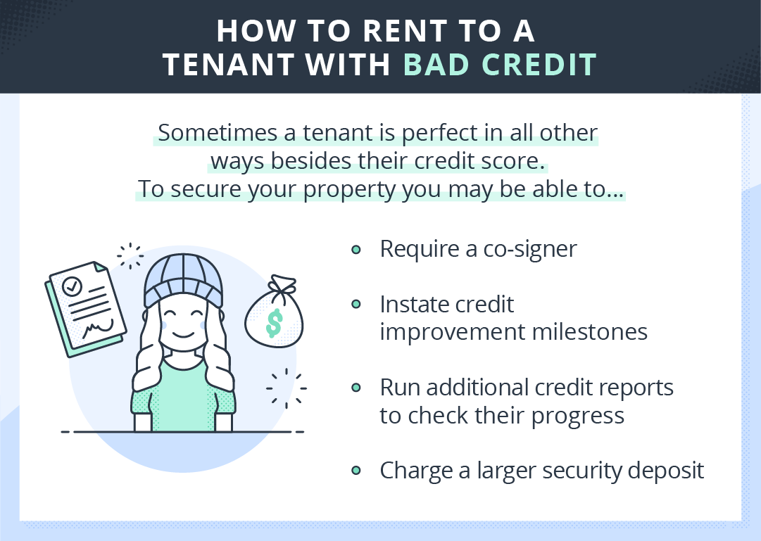 tips for renting to a tenant with bad credit